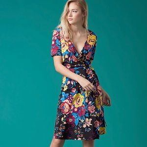 silk wrap dress by DVF